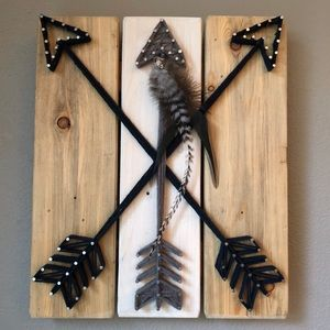Other - Arrow String Art with Feather Detail